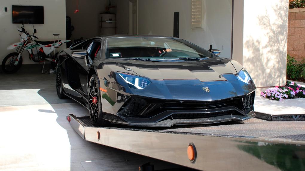 Lamborghini being seized in California