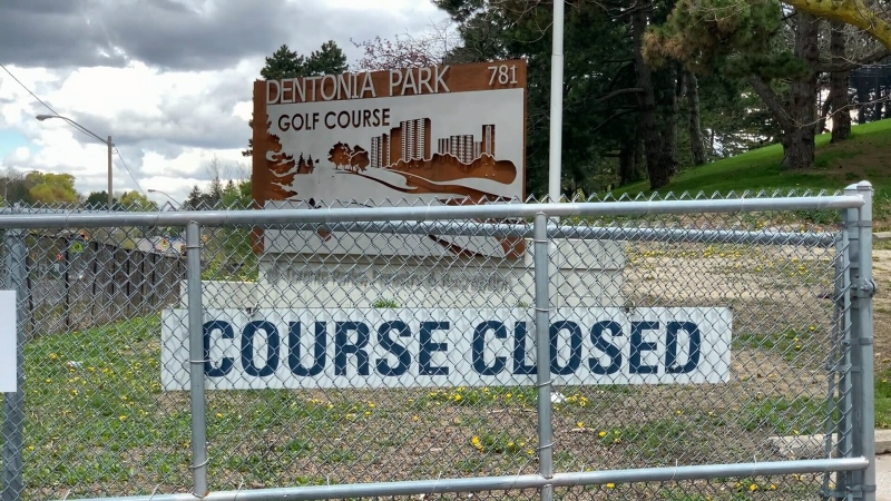 golf course closed