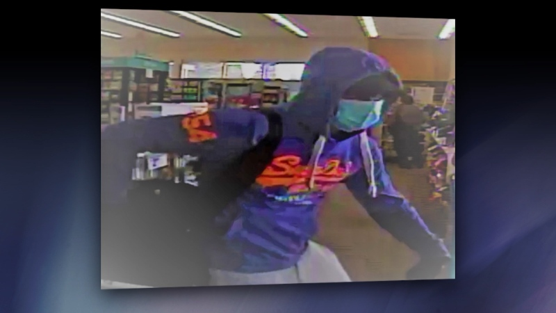 Pharmacy robber suspect