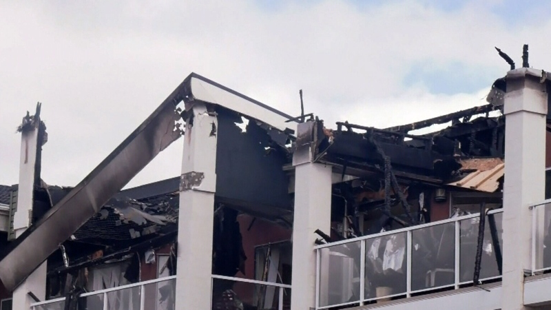 Care home assesses damage following massive fire