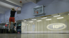 Regina's Quinn Dornstauder trains at Level 10 ahead of Basketball Canada's Olympic selection camp (Claire Hanna/CTV Regina)