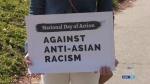 Protesting anti-Asian hate crimes