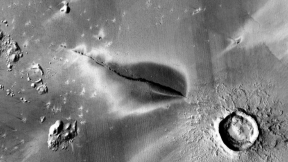 Elysium Planitia region on Mars