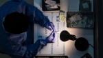 A dose of the Pfizer-BioNTech vaccine being prepared at the COVID-19 vaccination clinic at the University of Toronto campus in Mississauga, Ont., on Thursday, May 6, 2021. THE CANADIAN PRESS/ Tijana Martin