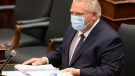 Ontario Premier Doug Ford prepares for Question Period at Queen's Park in Toronto on Wednesday May 5, 2021. The premier has just finished a quarantine due to a COVID-19 exposure. THE CANADIAN PRESS/Frank Gunn