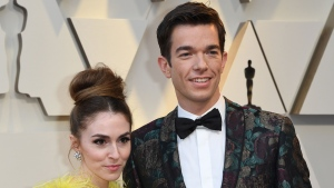 John Mulaney and Anna Marie Tendler are shown at the 91st Annual Academy Awards at the Dolby Theatre in Hollywood, California on February 24, 2019. (Mark Ralston/AFP/Getty Images via CNN)