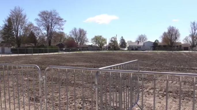 The site of the demolished Listowel Memorial Arena.