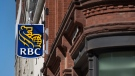 The RBC Royal Bank of Canada logo is seen in Halifax on Tuesday, April 2, 2019. THE CANADIAN PRESS/Andrew Vaughan