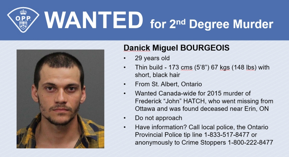 Wanted poster Danick Miguel Bourgeois