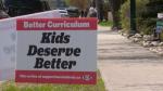 Calgary, political, lawn, signs