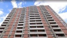 The apartment tower at 235 Rebecca Street is shown in a Google Streetview image.