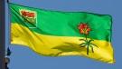 Saskatchewan's provincial flag flies on a flag pole in Ottawa, Monday July 6, 2020. THE CANADIAN PRESS/Adrian Wyld