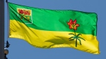 Saskatchewan's provincial flag flies on a flag pole in Ottawa, Monday July 6, 2020. THE CANADIAN PRESS/Adrian Wyld