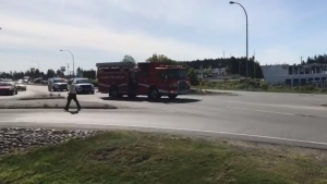 The crash occurred around 9 a.m. Tuesday: (CTV News)
