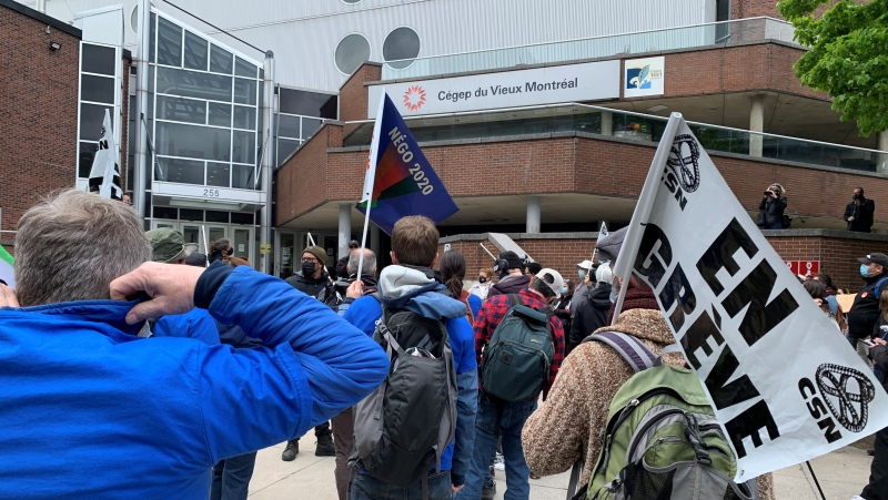 CEGEP teachers strike on Tuesday, May 11, 2021 (Angela MacKenzie)