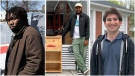 Pictured left to right, Toronto-based Carpenter Khaleel Seivwright who builds tiny homes for the homeless; Jalil Bokhari, co-creator of 'Community Fridges Toronto; and Jonathan Clodman, a member of Vaccine Hunters Canada.