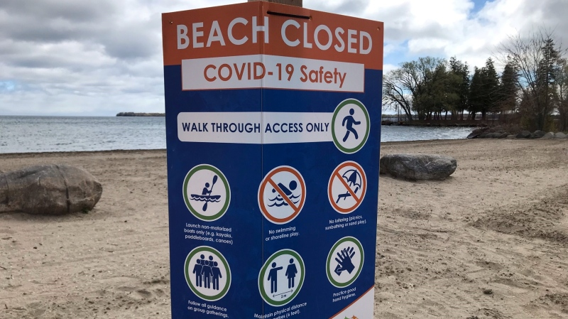 The Town of Innisfil braces for what it believes could be another busy summer at the beach. Tues. May 11, 2021 (Rob Cooper/CTV News)