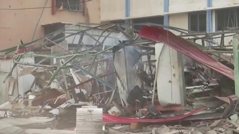 The scene in Gaza on May 11