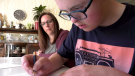 14-year-old Carter Williams is doing some home work under the supervision of his mom Melanie. Carter is in grade 9 at Simon Fraser School where his principal Laureen Lailey has been recognized for her work to make the school inclusive