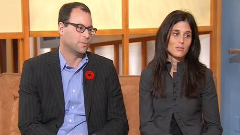 Noel Biderman, founder of AshleyMadison.com, and his wife Amanda