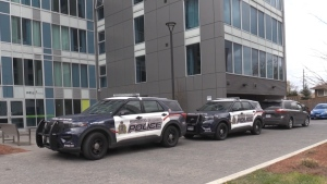 Police investigate a sudden death in Waterloo (Spencer Turcotte / CTV News Kitchener)