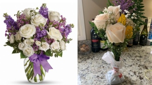 This photo shows an example of what one CTV News Toronto viewer ordered versus what they received. (Supplied)