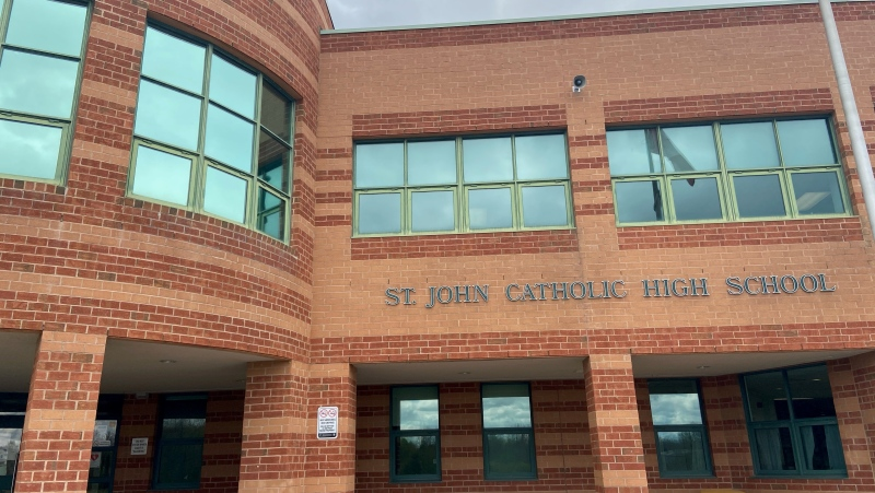 St. John Catholic High School in Perth, Ont. (Dylan Dyson / CTV News Ottawa)