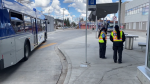ETS security at a transit centre. Tuesday May 11, 2021 (CTV News Edmonton)