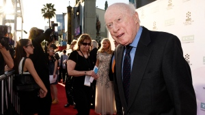 Norman Lloyd poses before a 50th anniversary screening of the film 'The Sound of Music' at the opening night gala of the TCM Classic Film Festival on March 26, 2015, in Los Angeles. (Photo by Chris Pizzello/Invision/AP, File)