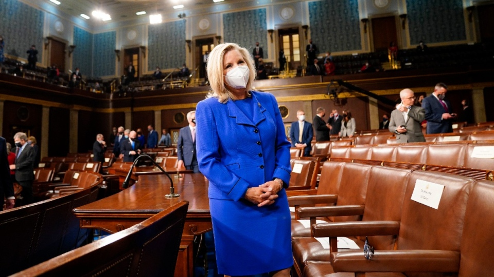 Liz Cheney in the House Chamber at the Capitol