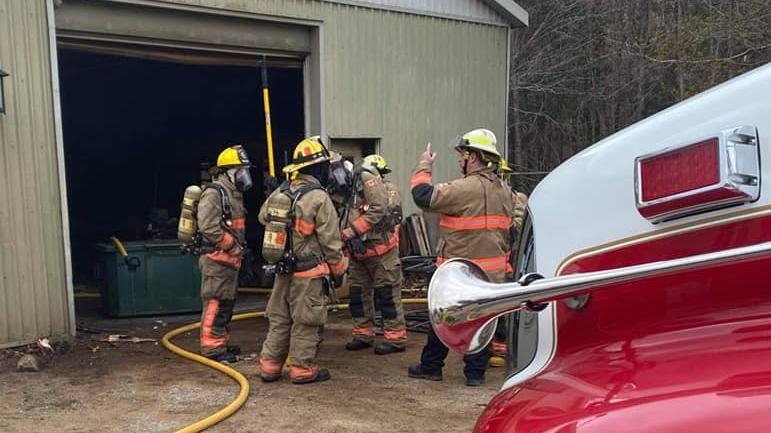 Muskoka Lakes Fire Department at a fire scene