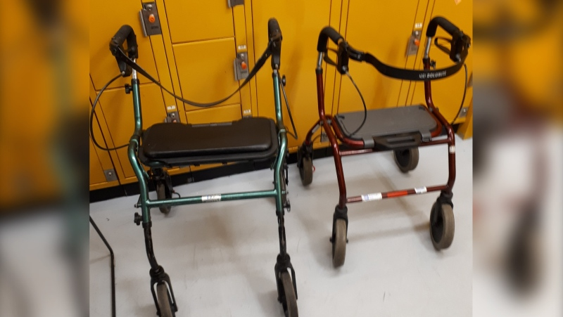 Rollator walkers found by Sarnia police on Tuesday May 11, 2021 (Source: Sarnia Police Service)