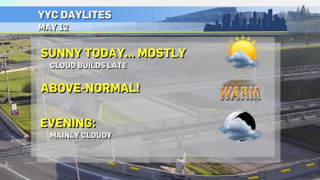 Calgary weather, May 11