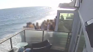 A seafront balcony in Malibu, Calif., collapsed on May 8, sending several people to the hospital with serious injuries.