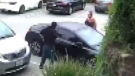 Mom punches would-be car thief