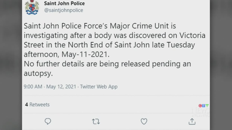 Body found in Saint John, N.B.