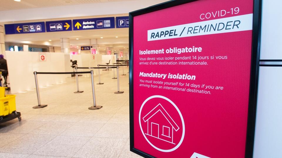 airport quarantine reminder