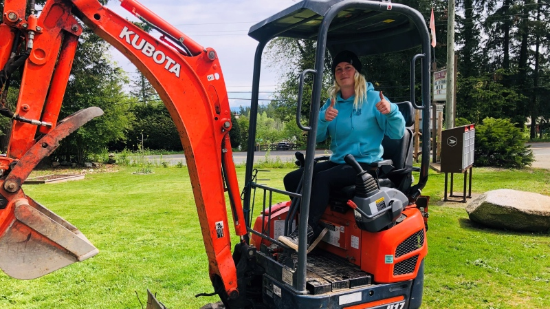 Nanaimo RCMP say the business owner told them she was thinking of selling her home to keep her business afloat while the excavator was missing: (Nanaimo RCMP)