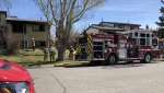 Firefighters were called to a home in Ranchlands Wednesday morning for reports of a fire.