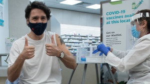 Trudeau says his second dose will be AstraZeneca