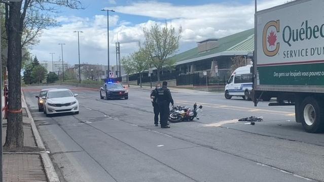 Motorcycle crash Montreal