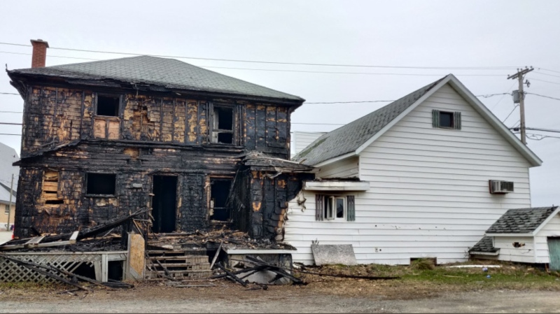 Police say through the investigation, the RCMP, along with the Provincial Fire Marshall's office, have determined that the fire may have been set deliberately.  (Photo courtesy: RCMP)