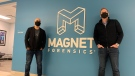 Jad Saliba and Adam Belsher from Magnet Forensics (Krista Sharpe / CTV News Kitchener)