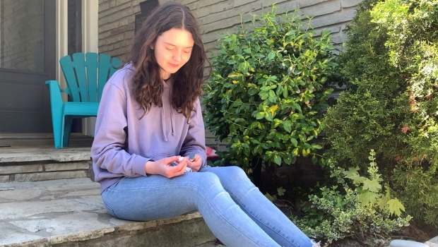 Ainsley Harris, 14, is pleading with the Ontario government to allow her access to the COVID vaccine. (Photo: Saron Fanel)