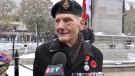 Veteran Pete Schussler speaks with CTV News during Remembrance Day events in London, Ont.