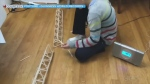 Boy builds world's tallest popsicle stick structur