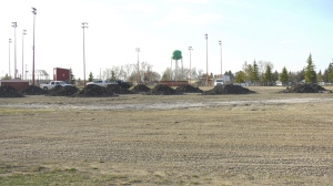 "The site of the new ""Mini Jays Complex"" in Moosomin, which features two diamonds and youth soccer field (Kaylyn Whibbs/CTV Yorkton)"