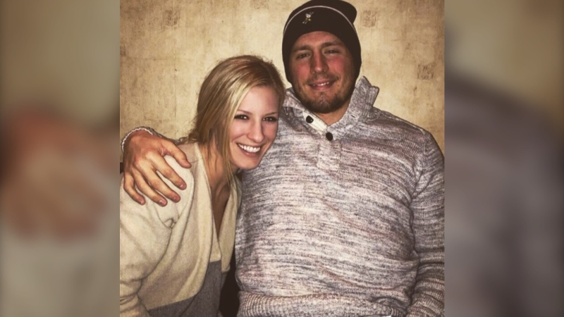 A picture of Canucks forward JT Miller and his wife Natalie. (Fabwags.com)