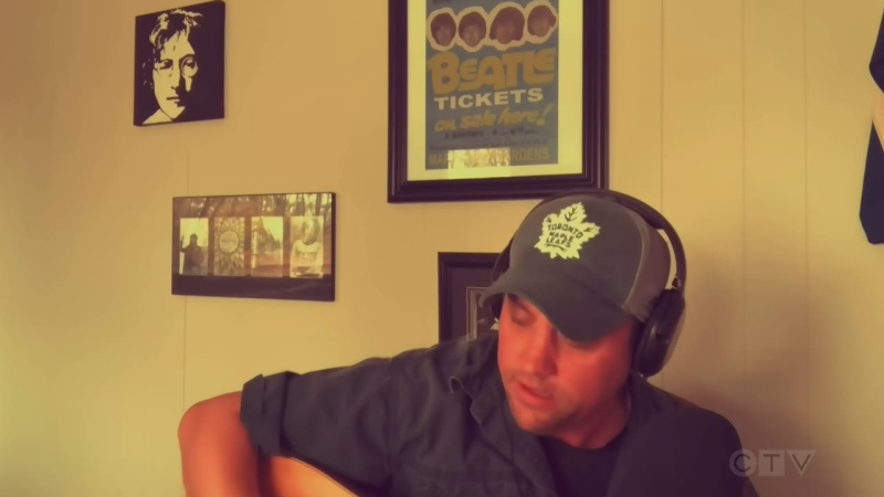 Chad Driscoll, of Peterborough, Ont. wrote a song about his sentiments over the provincial lockdown that's keeping golf courses closed. (Kraig Krause/CTV News)