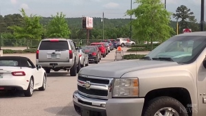 Long lines at U.S. gas stations after cyberattack